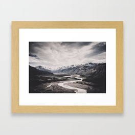 Andes and Patagonia Framed Art Print