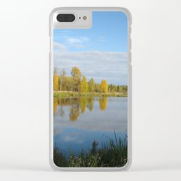 Autumn Evening Clear iPhone Case