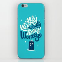risa rodil iPhone & iPod Skins featuring Wibbly Wobbly Timey Wimey by Risa Rodil