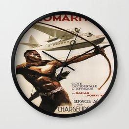 Vintage poster - Aeromaritime Wall Clock