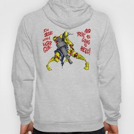Scud The Disposable Assassin: Jesus with a Laser Gun! Hoody