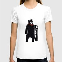 snowboard T-shirts featuring Bear on snowboard by SpazioC