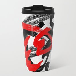 Black and red Metal Travel Mug
