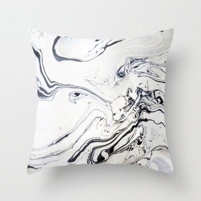 Marble Art V12 #society6 Throw Pillow