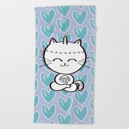 Lily Unicorn Kitty Beach Towel