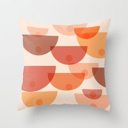 Mid Century Boobs Abstract Throw Pillow
