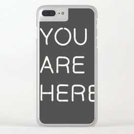 You Are Here-Neon Lights Clear iPhone Case