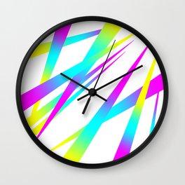 Spikes CYMK (white) Wall Clock