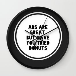 Abs are great  Wall Clock