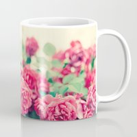 flora Mugs featuring Flora by Laura Ruth