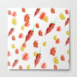 moving chilies Metal Print