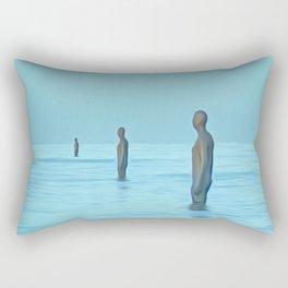Three Gormley Iron Men Rectangular Pillow