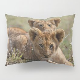 Two lion Clubs At Play Pillow Sham