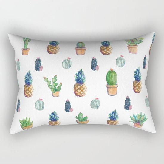 cactu and pineapple with new cactus Rectangular Pillow
