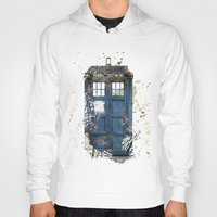 tardis Hoodies featuring Tardis by Abbie :)