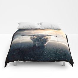highland cattle scotland Comforters