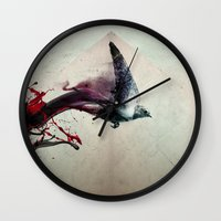 sparrow Wall Clocks featuring SPARROW by MR FLAMA
