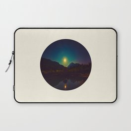 Colorful Night Sky Blue Green Purple With Mountains Laptop Sleeve