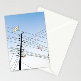 Birds on a wire Stationery Cards