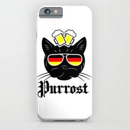 Oktoberfest Cat Funny Prost German Beer Drinking Bavarian Festival iPhone Case