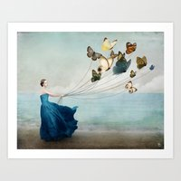 wonderland Art Prints featuring Wonderland by Christian Schloe