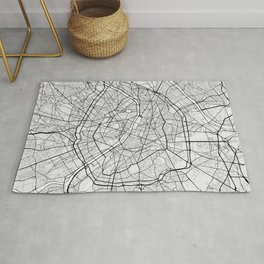 Paris City Map of France - Light Rug