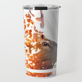 Caution Deer by GEN Z Travel Mug