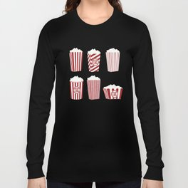Movie and Popcorn Time Long Sleeve T-shirt