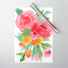 Floral Watercolor Bouquet Wrapping Paper