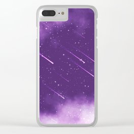 Meteors Clear iPhone Case
