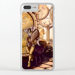Solas leaves Lavellan Clear iPhone Case