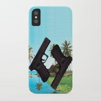 guns iPhone & iPod Cases featuring guns by Hoeroine