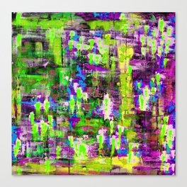 BOYFRIEND SWEATS(violet & lime) Canvas Print