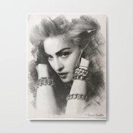 Madonna Sketch Metal Print