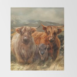 Hairy Coo's Throw Blanket