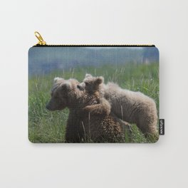 Alaska Grizzly Mother And A Cub In Katmai National Park #Society6 Carry-All Pouch