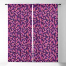 Purple & Pink Autumn Leaves Blackout Curtain