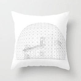 Montreal Biosphere Throw Pillow