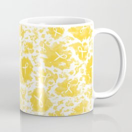 Gold (yellow) Watercolor Ink Splashes Cause Ribbons Coffee Mug