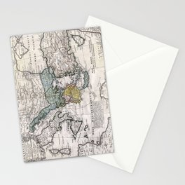 Map of Ancient Greece and the Eastern Mediterranean by Heirs Homann - 1741 Stationery Cards