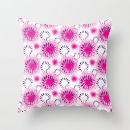 Fuchsia Twist Throw Pillow