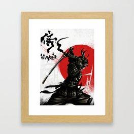 Samurai Invader Framed Art Print