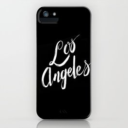 Los Angeles - Hand Type - Black iPhone Case
