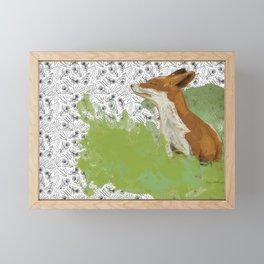 Sunning Fox Framed Mini Art Print
