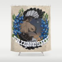 friendship Shower Curtains featuring Friendship by Quigley Down Under