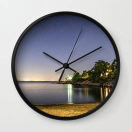 Neowise at Plum cove Beach Wall Clock