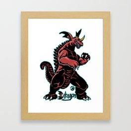 Baragon Kaiju Print FC Framed Art Print