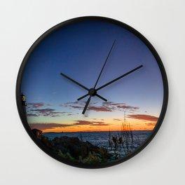 Portland Maine Head Light Dawn Wall Clock