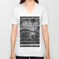 london map V-neck T-shirts featuring London Map by Le petit Archiviste