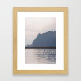 Lonely black-necked swan Framed Art Print